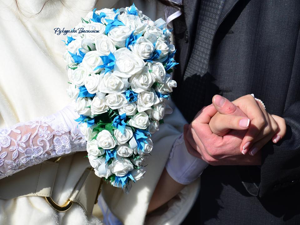 розы из салфеток своими руками, топиарий из бумажных роз, свадебный букет, своими руками, рукоделки василисы