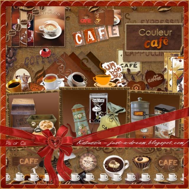 цифровой скрапбукинг, для фотографий, скрап набор, PSD шаблоны, кофе, рукоделки василисы